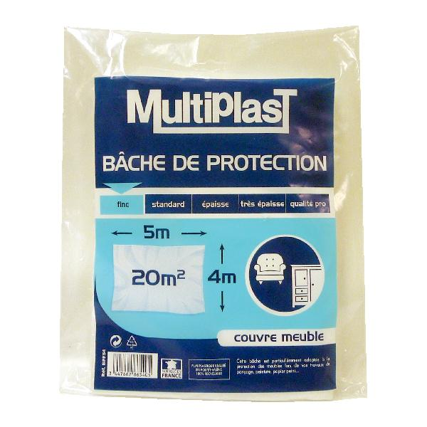 Bâche fine de protection 5x4m