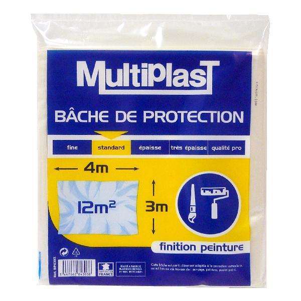 Bâche de protection standard 4x3M finition peinture