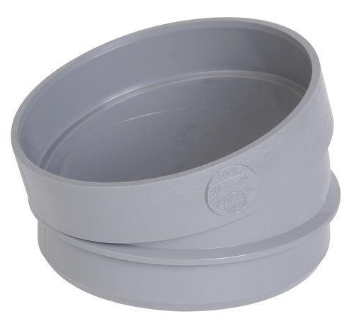 Secteur de coude PVC évacuation Ø125 mâle-femelle 15° SX1