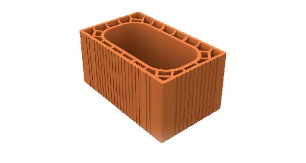 Boisseau terre cuite alvéole 35x25x60 Int: 25x50