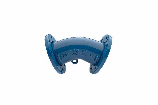 COUDE FONTE BRIDES MOBILES DN040 45°-1/8 ISO PN10-40