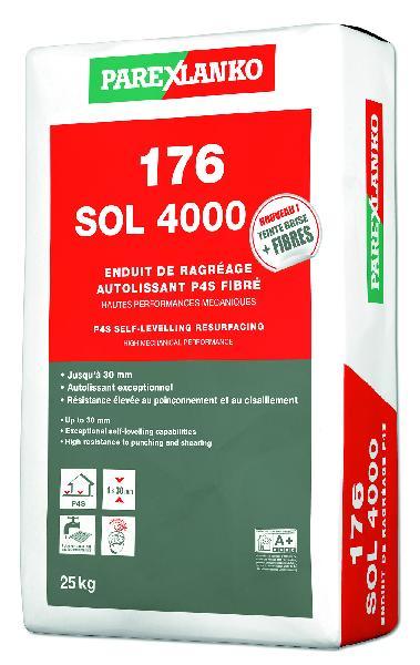 Mortier autolissant ragréage sol 176 SOL 4000 sac 25kg