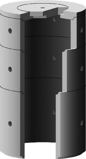 Elément de puits béton pour regard Ø1250 H.1m perforé
