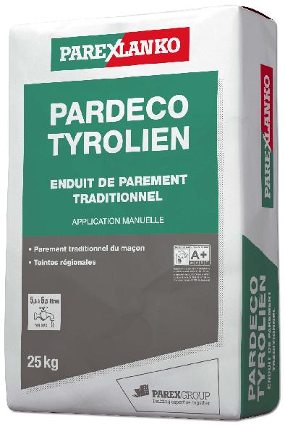 Enduit PARDECO TYROLIEN 20 25Kg