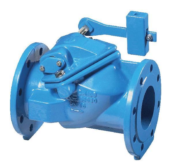 CLAPET A SIMPLE BATTANT DN200 ISO PN10 AVEC CONTREPOIDS