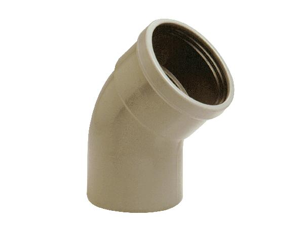 Coude PVC assainissement CR4 Ø125 mâle-femelle 45°