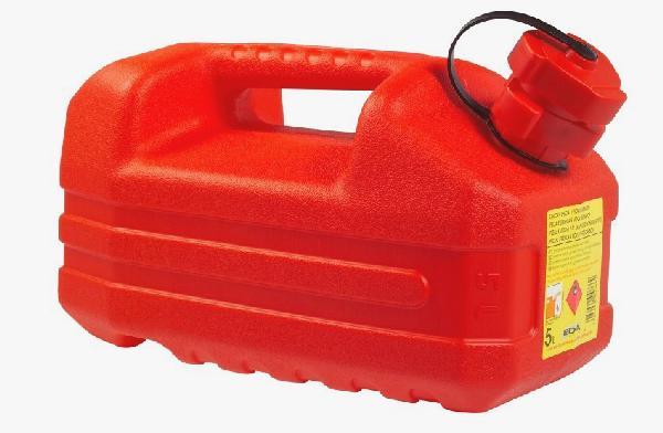 Jerrican hydrocarbure plastique rouge 5L