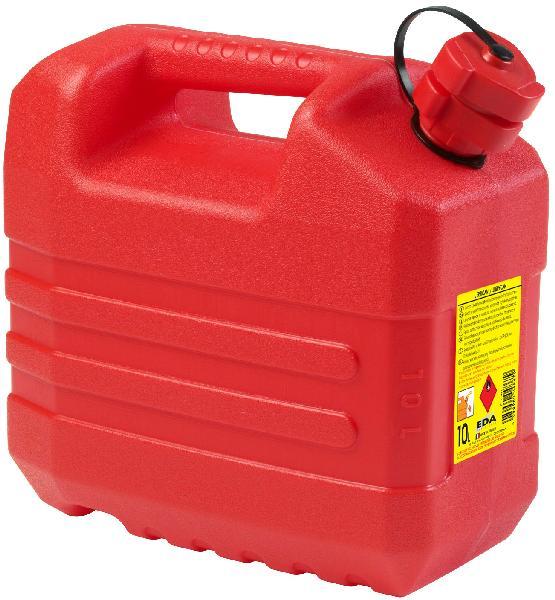 Jerrican hydrocarbure plastique rouge 10L