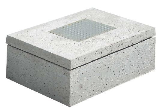 Demi trappon béton pour compteur d'eau 800x600mm H.8cm