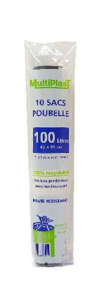 Sacs poubelle 100L rouleau 10
