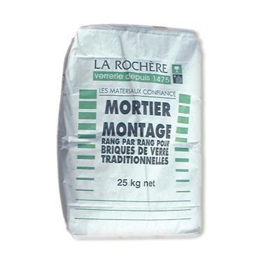 Mortier de montage pour brique de verre sac 25kg for Montage carreaux de verre