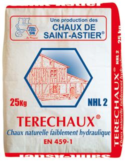 Chaux naturelle TERECHAUX NHL 2 NF EN-459-1 sac 25kg