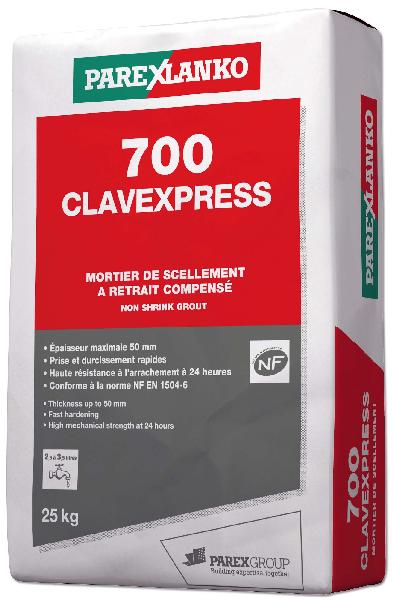 Mortier scellement 700 CLAVEXPRESS sac 25kg