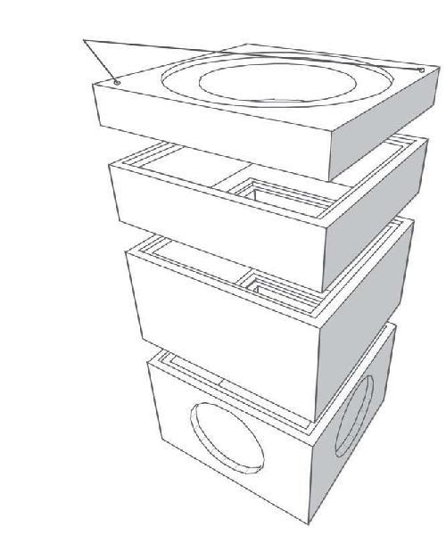 Elément de tête béton pour regard 800x800 H.int.12cm ouverture Ø600