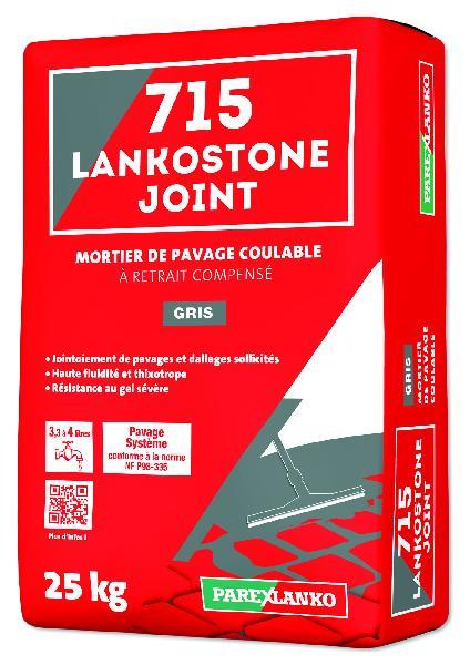 Mortier pour jointoiement de pavés 715 LANKOSTONE gris sac 25kg