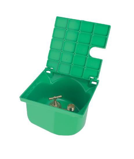 Bouche arrosage non incongelable NICOLL verte carrée 20/27