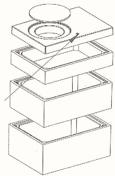 Elément de tête béton pour regard 1000x1500 H.int.20cm