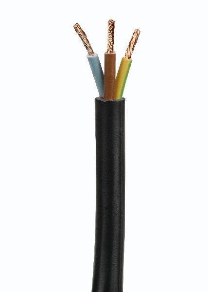 Câble industriel rigide U1000 RO2V 3 G 6mm² au mètre