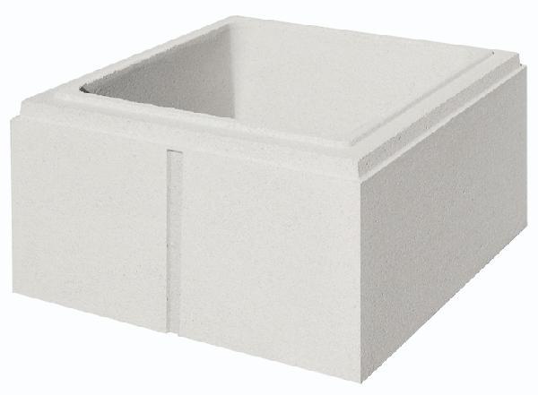 Elément pilier béton LISSE blanc 32x32x16,7cm