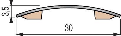 SEUIL PRESTO INOX 30MM  93CM
