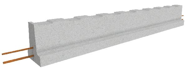 Poutrelle béton précontraint RSE133 2,90m