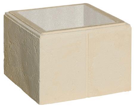 Elément pilier béton AMBOISE crème 40x40x28cm