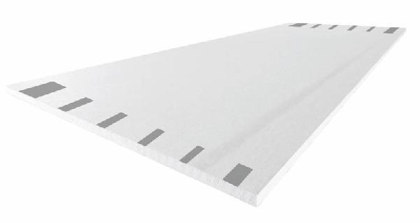 Plaque plâtre SYNIA DECO 4 bords amincis prépeint 13mm 250x120cm