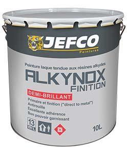 Peinture laque semi-brillante ALKYNOX FINITION noir 4L