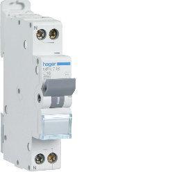 Disjoncteur 1P+N 1 module 16A 3kA 220V