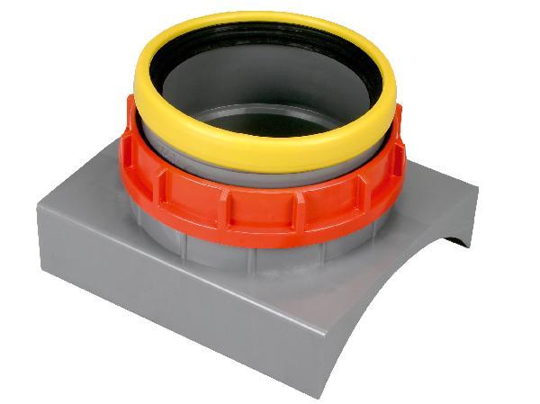 Raccord de piquage PVC sur PVC à clipser CR8 Ø200 pour tuyau PVC Ø315