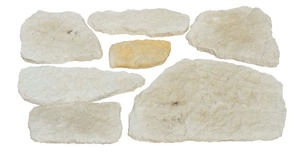 Parement MOELLON RUSTIQUE pierre nuancé de 4x4cm à 35x20cm Ep.2cm NF