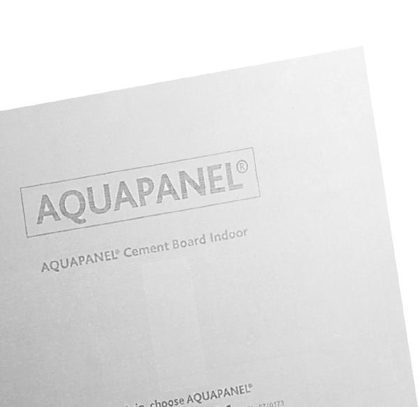 Plaque ciment armée fibre de verre AQUAPANEL INDOOR BD 13mm 120x90cm