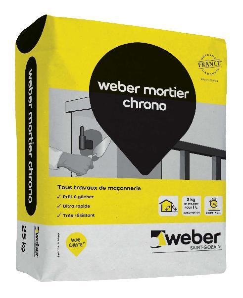 Mortier ultra rapide multi usages WEBER.CHRONO sac 25kg