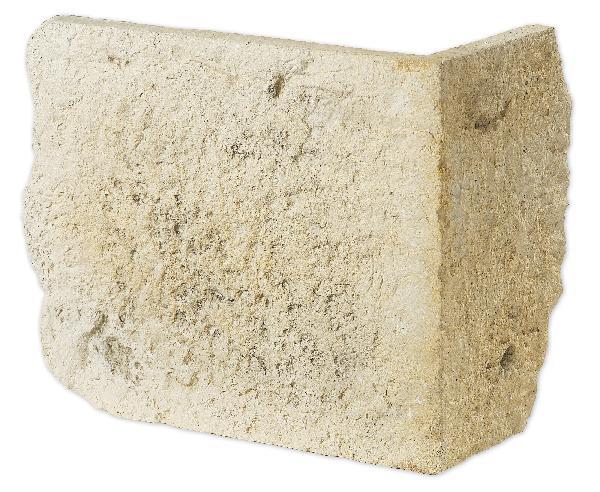 Parement angle MOELLON RUSTIQUE pierre env.23x41cm h32cm Ep.env.2,5cm
