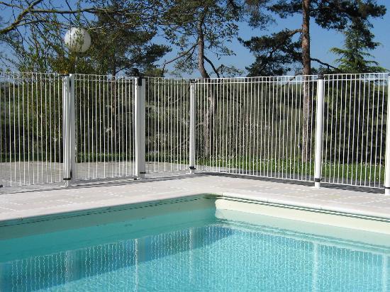 cl ture piscine plast m tal bois. Black Bedroom Furniture Sets. Home Design Ideas