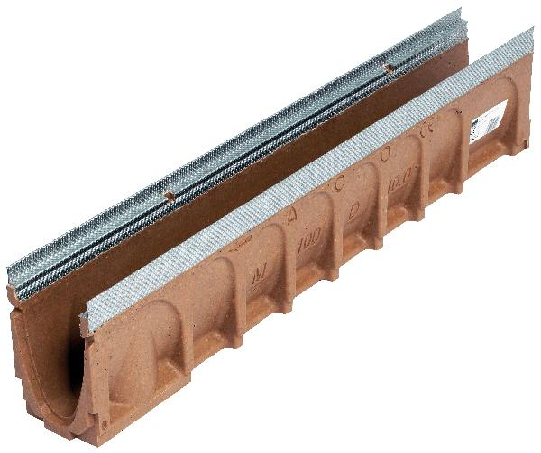 Caniveau béton polymère N° 0.2 MULTIDRAIN 100 0,50m sans grille
