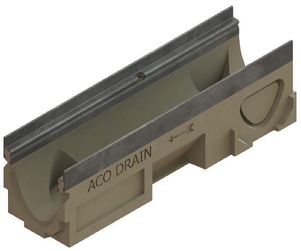 Caniveau béton polymère N° 10.1 MULTIDRAIN 100 0,50m sans grille