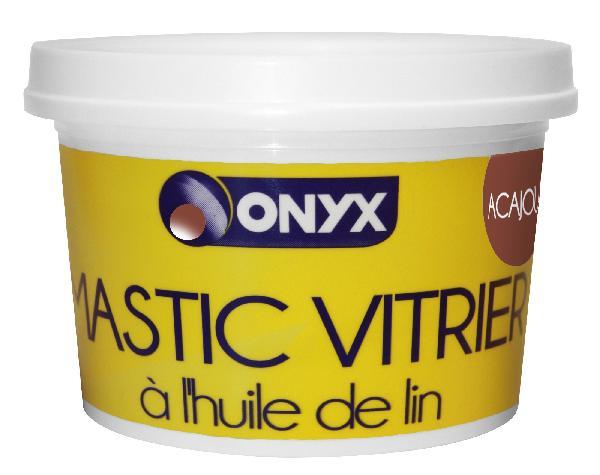 Mastic vitrier ONYX huile de lin acajou seau 1kg