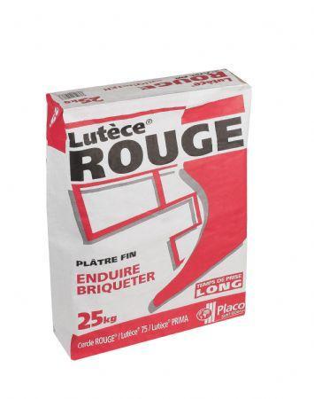 Plâtre traditionnel manuel LUTECE ROUGE sac 25kg
