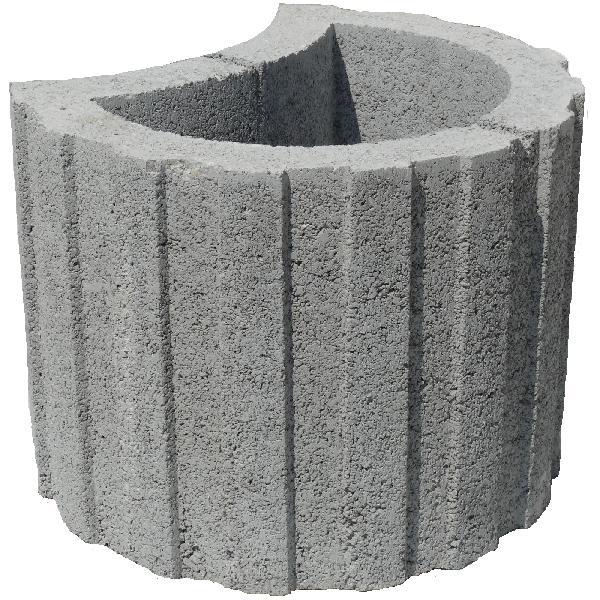 Bloc de soutènement MINITALUDECOR Ø330mm gris