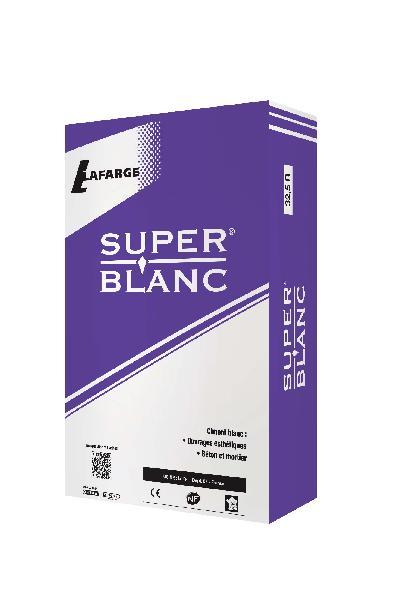 Ciment superblanc CEM II/B-LL CP2 32,5 R CE+NF sac 25kg