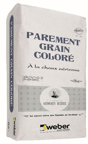 Enduit PAREMENT GRAIN COLORE blanc cassé - 001 sac 25Kg