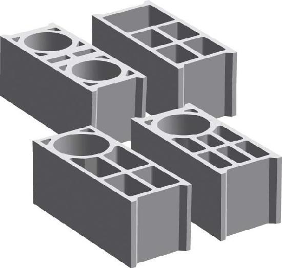 Bloc creux angle 20x25x50 B40 CE+NF A205