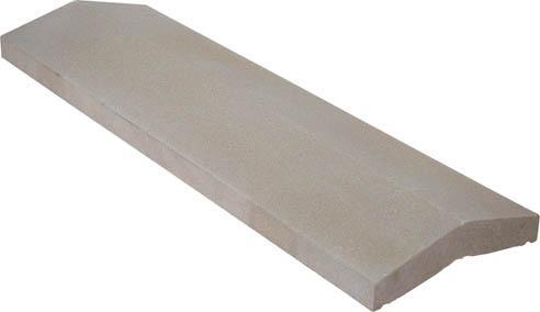 Couvertine 2 pentes 99x30cm Ep.4cm gris