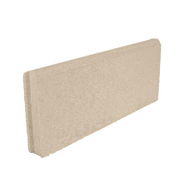 Bordure LISSE Ep.5x50cm H.20cm ton pierre