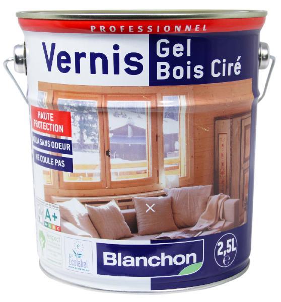 Vernis bois GEL CIRE exclusivement intérieur aqua PU chêne clair 2,5L