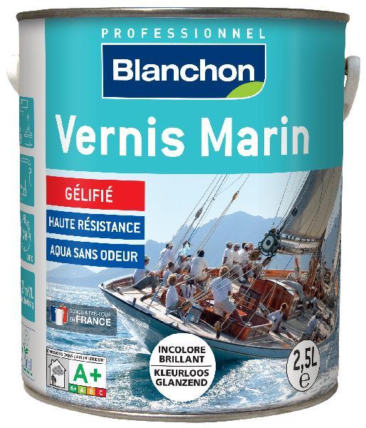 Vernis bois MARIN intérieur/extérieur PU phase aqueuse brillant 2,5L