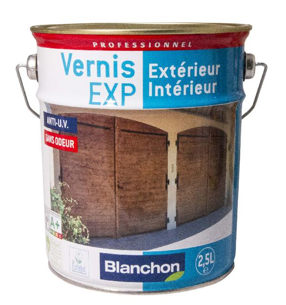 Vernis bois EXP intérieur/extérieur PU phase aqueuse mat incolore 2,5L