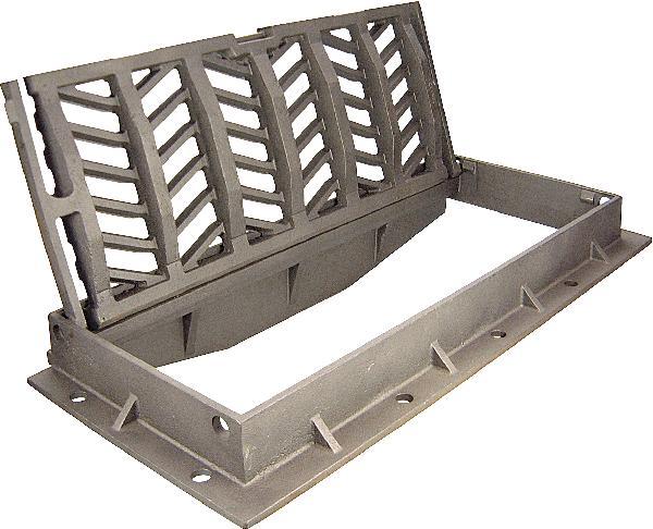 Grille fonte plate PMR AQUAVA pour avaloir D400 855x365-755x305