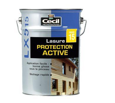 Lasure protection active LX515 acrylique satinée incolore bidon 1L